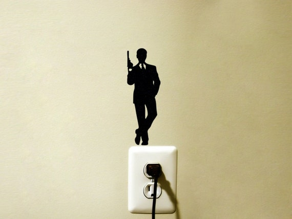 James bond 007 decal sticker spy room decor for 007 room decor