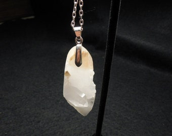 Free Form Quartz Crystal Pendant, North Carolina Quartz