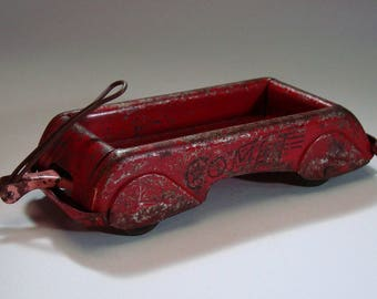 "Wyandotte, ""Comet"" antique, pressed steel, miniature toy wagon"