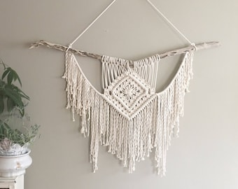 Macrame Wall Hanging; Urban Chic Decor; Bohemian Decor; Wall Art; Shabby Chic Wall Hanging