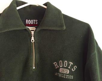 Green roots zipper pullover