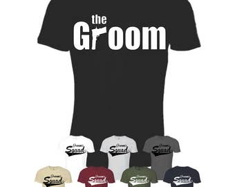 The Groom and Groom's Squad Tees