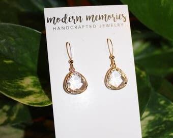 Crystal Teardrop Earrings | wedding jewelry, prom jewelry, bridesmaids gift