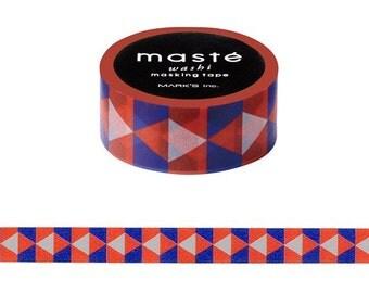Retro pattern, Red Washi tape, Triangles tape, Maste Japan, Scrapbook tape, Adhesive tape, DIY tape, Masking tapes