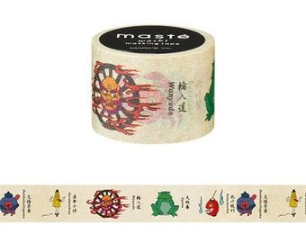 Japanese washi tape, Scrapbook tape, Gift wrapping tape, Xmas wrapping, Masking tape, Holiday wrapping, Paper tape