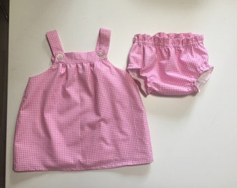 Complete top 100% cotton baby copripannollino in vichy and babies