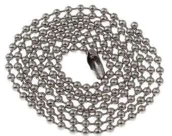 5 x Stainless steel Ball chain necklace