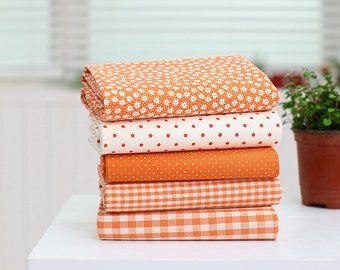 "Pastel Color Orange Series 20s Cotton Fabric - 44""x35"" - 1 Yard"