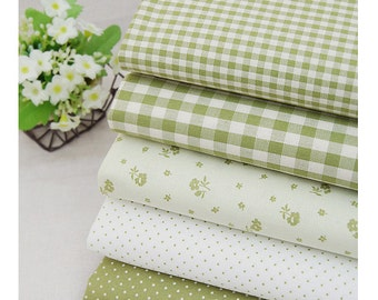 """Candy Color green Series 20s Cotton Fabric - 44""""x35"""" - 1 Yard"""