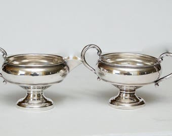 Vintage Sterling Silver Sugar and Cream Bowls, (Not Weighted) 122.5 grams