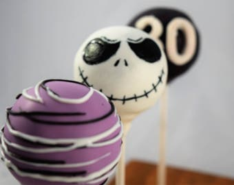 Jack Skellington Cake Pops 1 Dozen (12) Customizeable