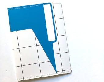 TN 6 Pocket Folder Blue Grid 7x5