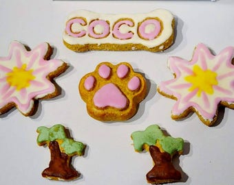 Dante's Summer Breeze Cookie Box /Organic Dog Treats /Dog Cookies /Dog Bakery /Dog Treats /Dog Birthday /Gift Box for Dog /Dog Lover Gift