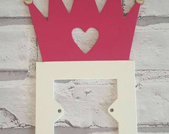 Princess crown light switch cover