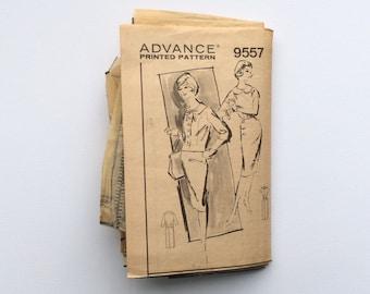 1960s B38 Dress & Jacket Sewing Pattern : Advance 9557