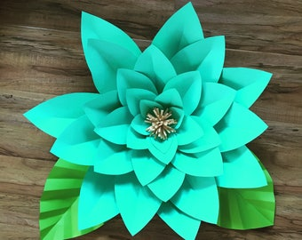 Large Teal Flower