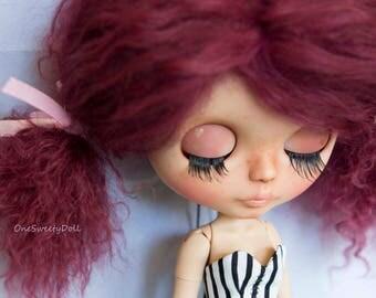 Lilou - RBL Blythe factory custom OOAK tan skin mohair hair