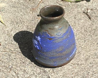 Blue Vase, hand thrown.