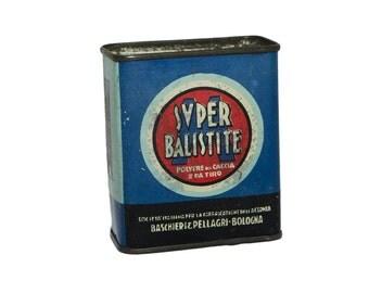 Tin box for gunpowder Super Ballistite