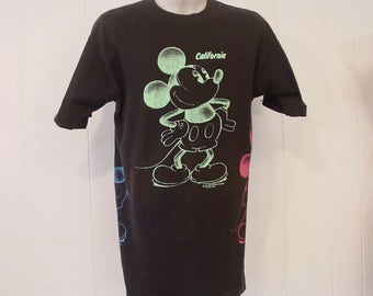 shirt graphic t shirt mickey mouse t shirt california 1980s t. Black Bedroom Furniture Sets. Home Design Ideas