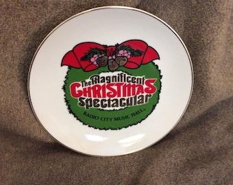 Radio City Music Hall Magnificent Christmas Spectacular Souvenir Plate