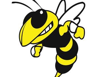 Yellow Jacket Bee Vinyl Decal Car Window Bumper Sticker Yeti Tumbler Laptop Cell Phone 2 Available 00036