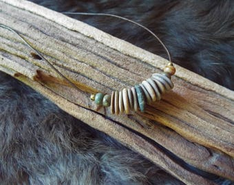 Natural River Rock with Leather Cord