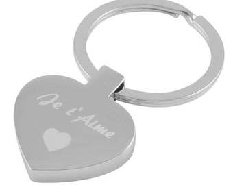 Custom key serious heart ring