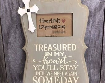 Treasured, Memory, Message Frame, Distressed Picture Frame