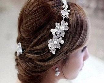 Pearl Bridal Flower Headband/Clip BH1008i
