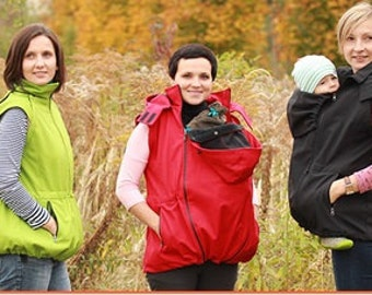 Softshell 5in1 baby carrying jacket, front and back baby wearing jacket coat, outdoor jacket maternity, tragejacke