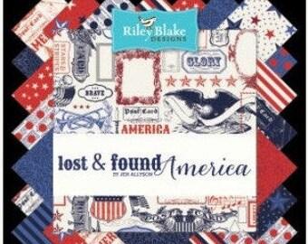Lost & Found America Fat Quarter Bundle by Jen Allyson for Riley Blake Designs