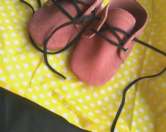 Pink Oxford shoes, Baby girl soft shoes,baby shoes, baby girl moccasins, Oxford shoes