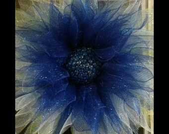 Blossom of blue.  Perfect for Spring, Summer, Mother's Day.