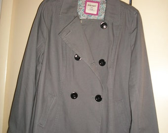 Vintage 90s Old Navy, Gray, Double Breasted Jacket Size L, NWT