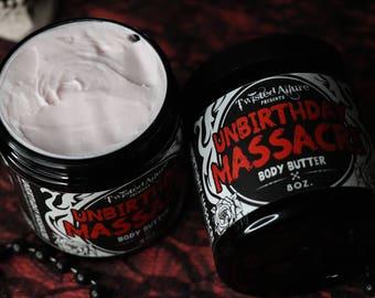 8 oz Body Butter | UnBirthday Massacre | Strawberry Birthday Cake | Gothic body butter | Lotion | Gothic Soap