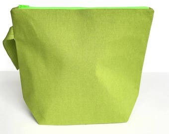 Medium Knitting Project Bag - Green Linen