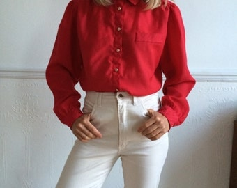Vintage blouse in red 80's