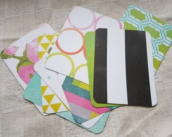 Journal Cards Set of 9 Double Sided for Planners, Art Cards, Journaling, Project Life and Snail Mail