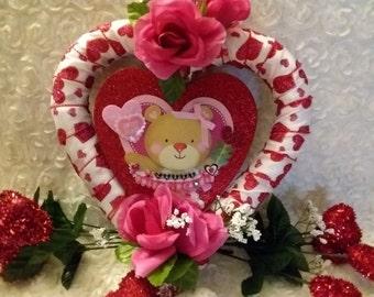 Super Sweet Valentine Heart Wreath