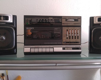 SONY CFS-1000S 4 Bands Stereo Cassette-Corder Boombox