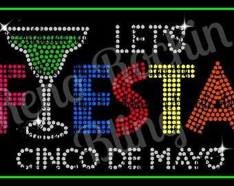 Custom Rhinestone shirt Fiesta Cinco De Mayo #3 made by The Bling Lady