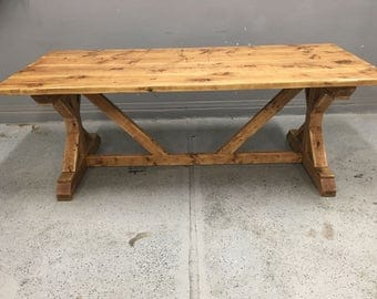 Rustic Handmade Farmhouse Table