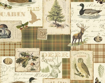 North Memories cotton fabric by the yard /David Textiles/Free shipping available/quilting cotton/duck fabric/hunting fabric