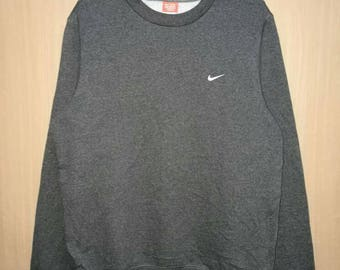 Rare!! Nike Small Logo Embroidery Pullover Jumper Sweatshirt