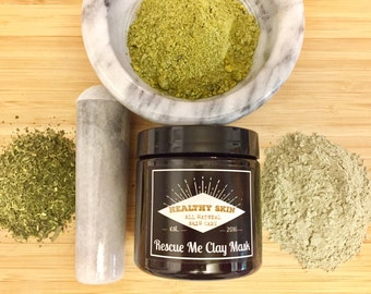 Organic Clay Mask - Oil Absorbing Mask - All Natural Skincare