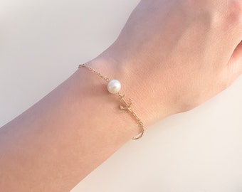 Anchor Bracelet,  silver anchor, Gold anchor,  Anchor Jewelry, Nautical jewelry,  tiny anchor bracelet,  friendship bracelet, gift for her,
