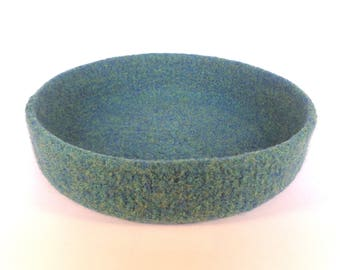 Sea Green Felt Bowl 20cm