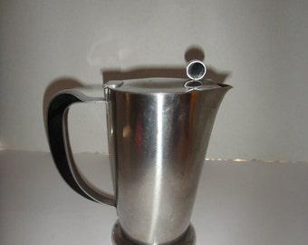 Gense Sweden Vintage Stanless Steel Coffee Pot with Bakelite inserts