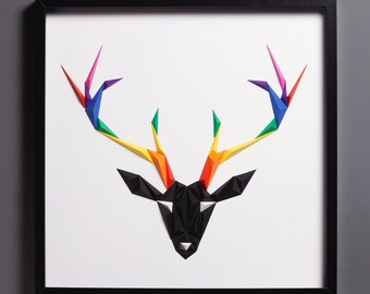 Paper Art: Rainbow Deer